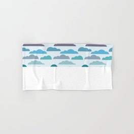 Rainy autumn seamless pattern with clouds Hand & Bath Towel