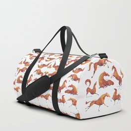 Horse poses Duffle Bag