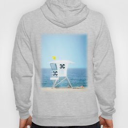 Lifeguard Hut, Southern California Beach Art by Murray Bolesta! Hoody