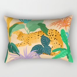 Sunbathing Amongt Plants Rectangular Pillow