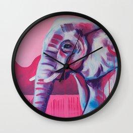 Pastel Elephant Wall Clock