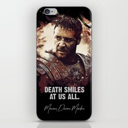 Death Smiles At Us All iPhone Skin