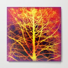 Golden Synapse  Metal Print