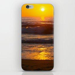 Sunset in the beach iPhone Skin