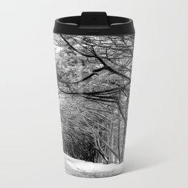 The Black & White Forest Metal Travel Mug