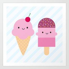 Summer Ice Cream Treats Art Print