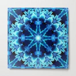 Crystal Light Mandala Metal Print