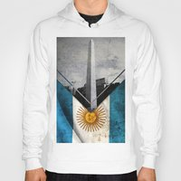 argentina Hoodies featuring Flags - Argentina by Ale Ibanez