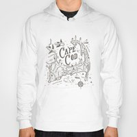cape cod Hoodies featuring Cape Cod Map by Ryan O'Rourke
