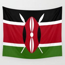 Kenya flag emblem Wall Tapestry