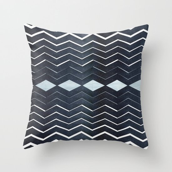 ELEGANT IN BLUE Throw Pillow