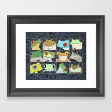 Frogs horizontal Framed Art Print