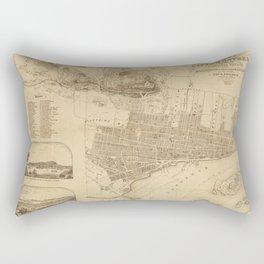 Map of Montreal 1859 Rectangular Pillow