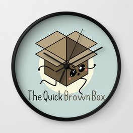 The Quick Brown Box Wall Clock
