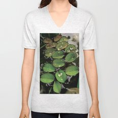 Mini Water Lilies and Water Bug Unisex V-Neck