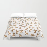 giraffes Duvet Covers featuring Giraffes! by Kashidoodles Creations