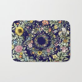 Circle of Life in Navy Blue Bath Mat