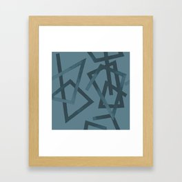 Blueprint and  Watercolor Texture 2 Framed Art Print
