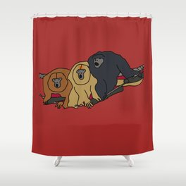 Howler Monkeys Shower Curtain