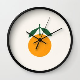 Orange Summer Citrus Wall Clock