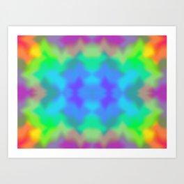 Rainbow Multicolored Watercolor Abstract Tie Dye Art Print