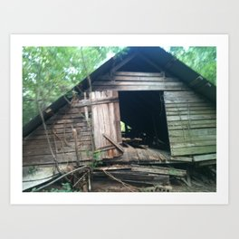 Another View of Old Collapsed Barn in Mississippi Art Print