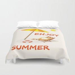 enjoy sunny summer Duvet Cover