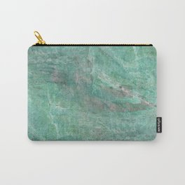 Mossy Woods Green Marble Carry-All Pouch
