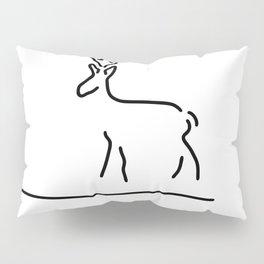 roe deer roebuck wildly Pillow Sham