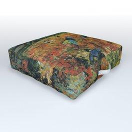 Vincent Van Gogh The Red Vineyards at Arles 1888 Outdoor Floor Cushion