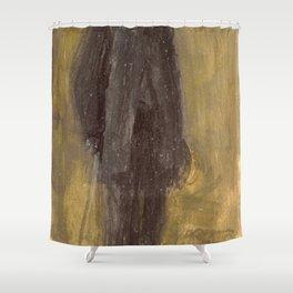 James Abbott McNeill Whistler - Portrait of George A. Lucas Shower Curtain