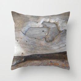 road trip, non typical tree design  Throw Pillow