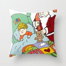 Santa's Visit Throw Pillow