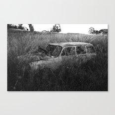 Nature reclaiming a vw squareback 02 Canvas Print