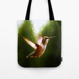 Moonlit Iridescence Hummingbird Tote Bag