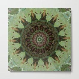 Protectors of the Green Net Mandala Metal Print