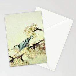 Nuthatch Bird Spring Flower Farmhouse Art Country Home Decor  A131 Stationery Cards