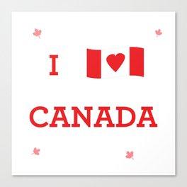I heart Canada Canvas Print
