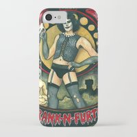 rocky horror picture show iPhone & iPod Cases featuring Frank-N-Furter - Rocky Horror Picture Show by DanaRobinson