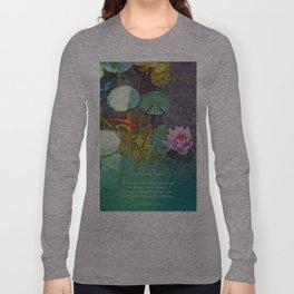Serenity Prayer Koi Pond Lotus Long Sleeve T-shirt