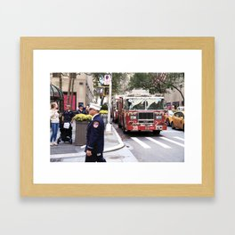 The Fire Dept of New York at 30 Rock Framed Art Print