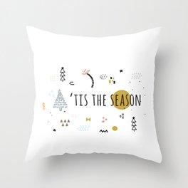 Minimal Holiday Designs :: 'Tis The Season Throw Pillow