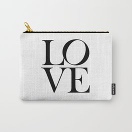 Love Print, Printable Wall Art, Bedroom Print, Home Decor Print, Quote Print, Minimalist Valentines Day Gift Prints Poster Carry-All Pouch