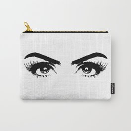 Sexy Black & White Eyes Girls Bedroom Eyelashes Makeup Art Carry-All Pouch