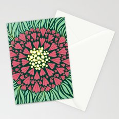 Pink and green florals Stationery Cards