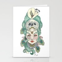 anxiety Stationery Cards featuring Anxiety by Melissa Smets