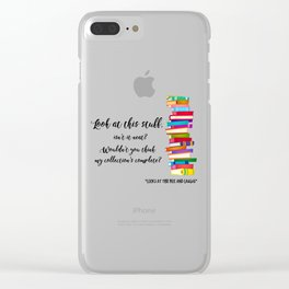 TB Pile Print Clear iPhone Case