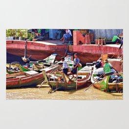Yangon Harbour Rug
