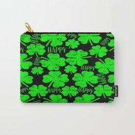Happy St.Patrick's Day Clovers Carry-All Pouch