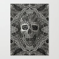 cow Canvas Prints featuring Lace Skull by Ali GULEC